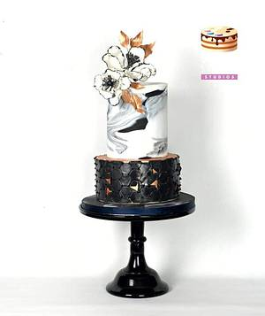 Ebony and Ivory - Cake by Sugar Street Studios by Zoe Burmester
