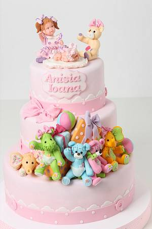 Christening cake with toys - Cake by Viorica Dinu