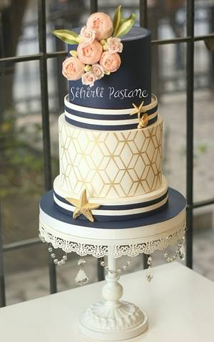Nautical Wedding Cake - Cake by Sihirli Pastane