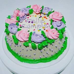 Torta de Rosas en crema - Cake by Tata Postres y Tortas