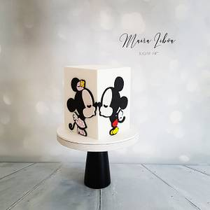Mickey & Minnie - Cake by Maira Liboa