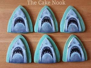 🦈 Jaws cookies.🦈 - Cake by Zoe White
