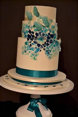 The Sugar Nursery's Beach Glass Cake - Cake by The Sugar Nursery - Cake Shop & Imaginarium