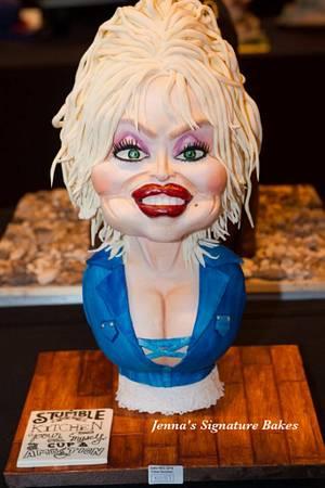 Dolly Parton Caricature for Cake International - Cake by Jennassignaturebakes