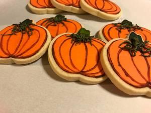 Pumpkin Sugar Cookies - Cake by Nevia D. Giles - Platinum Cake Designs