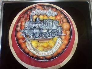 train birthday cake - Cake by Aurelia'sTartArt