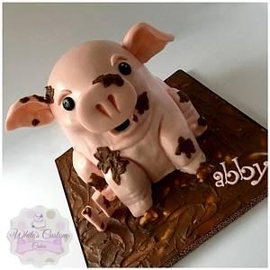 This Little Piggy  - Cake by Sabrina - White's Custom Cakes