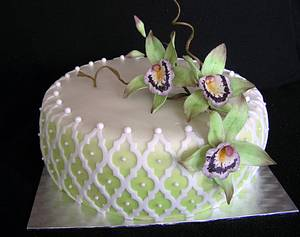 Orchids - Cake by Anka