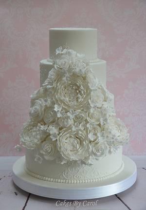 White Wedding Cake - Cake by Carol