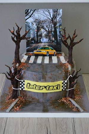 Taxi driver cake. - Cake by Torturi Mary
