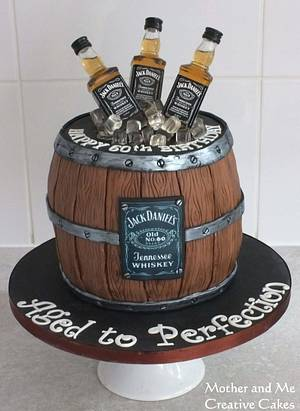 Whisky barrel cake - Cake by Mother and Me Creative Cakes