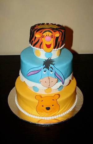 Winnie and his friends  - Cake by Rozy
