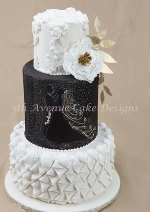 How to Design A Black and White Wedding Cake - Cake by Bobbie