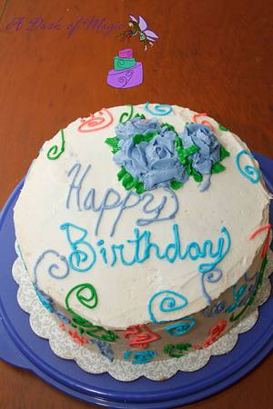Butter cream Birthday - Cake by A Dash of Magic