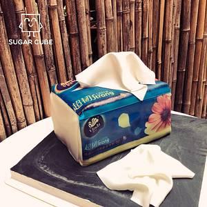 A tissue bag - Cake by George V @ Sugar Cube