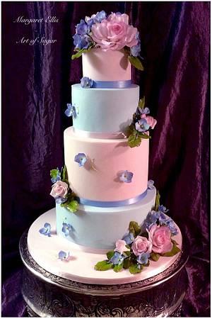 Pretty Pastels - Cake by Margaret Ellis - Art of Sugar