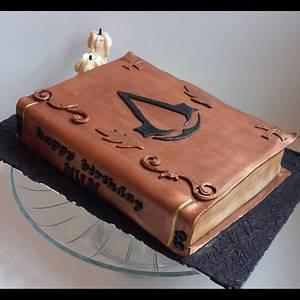 Custom Assassins Creed cake  - Cake by Jenn Szebeledy  ( Cakeartbyjenn_ )