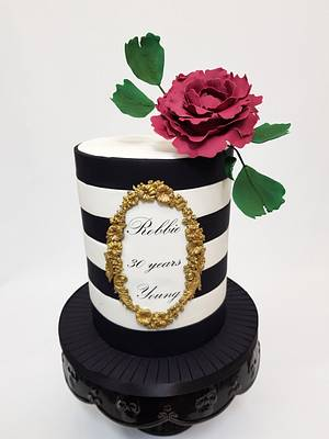 Black and white birthday cake - Cake by Cake Addict