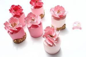 Mini cakes with peonies - Cake by Cuppy & Cake