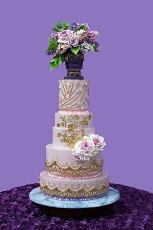 OSSAS Silver award cake, Lavishly Lilac - Cake by Pamela Jane