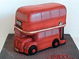 Vintage london double decker bus - Cake by Ellie @ Ellie's Elegant Cakery