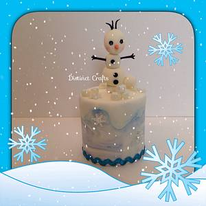 Olaf Frozen Theme Cake - Cake by Distinctcrafts