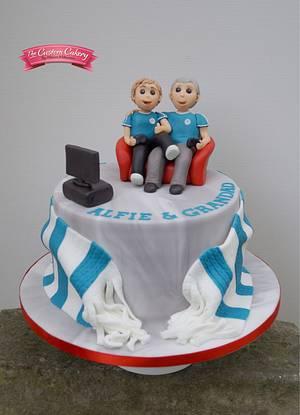Grandad and Grandson ❤️ - Cake by The Custom Cakery