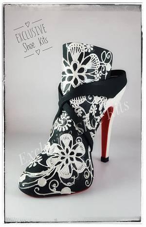 Lacy Stiletto Shoe - Cake by Corni