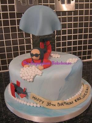 Skydiver / Parachute Cake - Cake by Sam Harrison