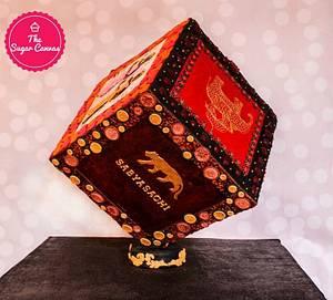 Tribute to Sabyasachi Mukherjee - Cake by TheSugarCanvas