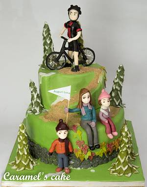 Biker's cake - Cake by Caramel's Cake di Maria Grazia Tomaselli