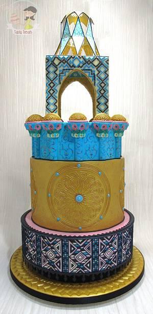 Iranian Architecture Inspired Wedding Cake - Cake by Natasha Shomali