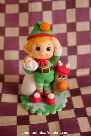 Elf Fondant Cupcaake Toppers - Cake by Sachiko Windbiel