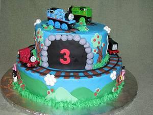Thomas & Friends 3rd Birthday - Cake by The Ruffled Crumb