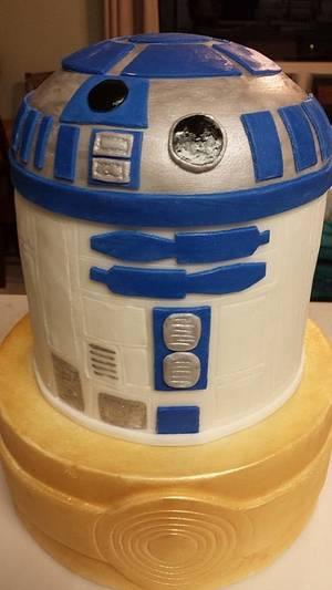 R2D2 - Cake by SweetAsSugar