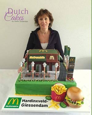Mc Donalds cake for opening - Cake by Karen Dodenbier