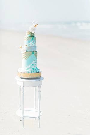 Sea Glass Wedding Cake - Cake by Bliss Pastry