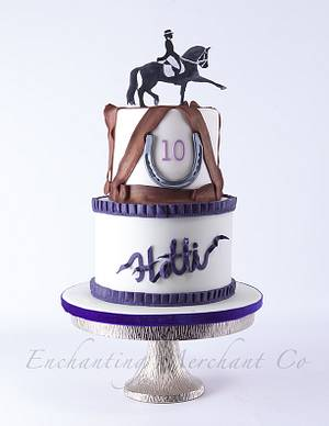 Horse riding theme birthday cake - Cake by Enchanting Merchant Company