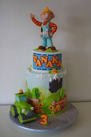 Bob the builder - welcome to the Sunflower valley ... - Cake by Bistra Dean