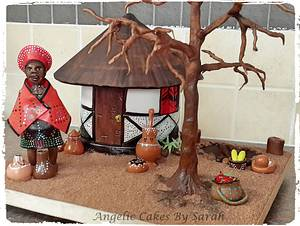 African Village - Cake by Angelic Cakes By Sarah
