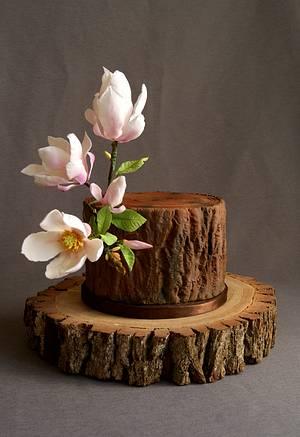 Magnolia tree trunk - Cake by Katarzynka