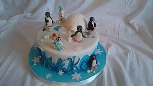 Pingu - Cake by Zuzana Kmecova