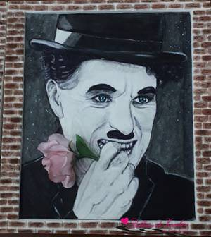 Charlie Chaplin portrait  - Cake by Catia guida
