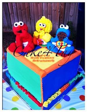 Sesame Street - Cake by Angel Chang