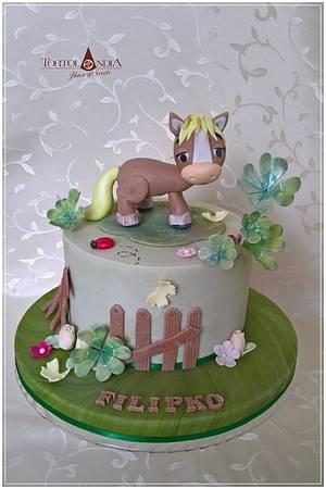 Cute little horse - Cake by Tortolandia