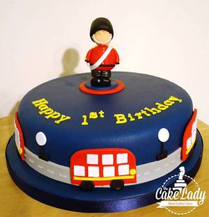London themed 1st birthday cake  - Cake by The Cake Lady