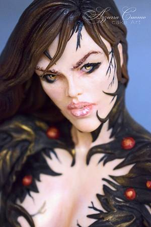 """""""Witchblade"""" for Cake Con Collaboration 2018  - Cake by Azzurra Cuomo Cake Art"""