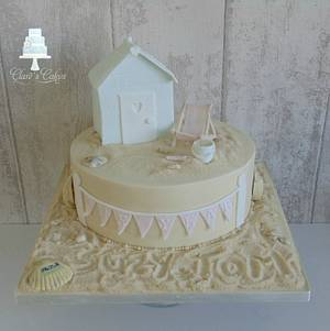1st Anniversary Beach Cake - Cake by Clare's Cakes - Leicester