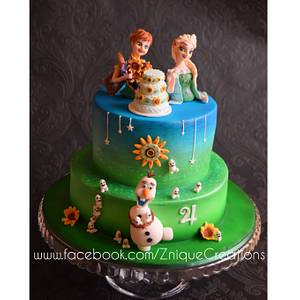 Frozen Fever  - Cake by Znique Creations