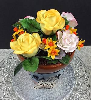 Flowerpot cake - Cake by Premierbakes (Julia)